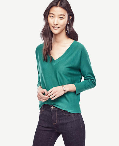 Image of Extrafine Merino Wool V-Neck Sweater
