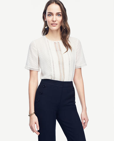 Image of Lacy Pleated Tee