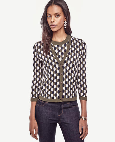 Image of Geo Cropped Ann Cardigan