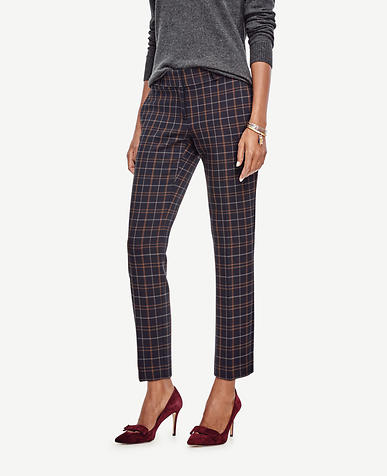 Image of Devin Plaid Everyday Ankle Pants