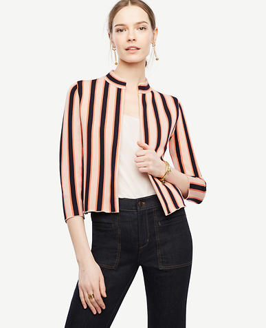 Image of Striped Sweater Jacket