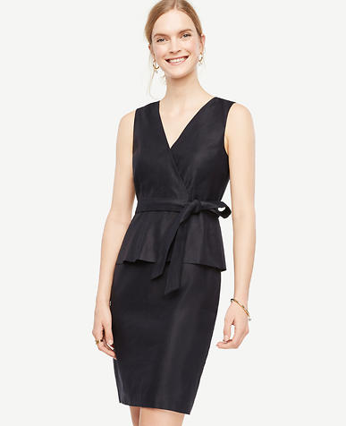 Image of Belted Peplum Sheath Dress