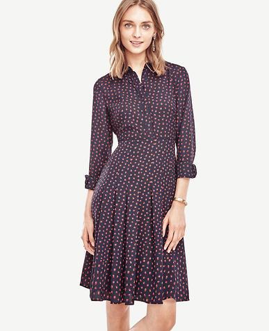 Image of Petite Swing Pleat Dress