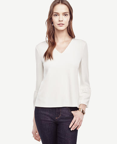 Image of Petite Flare Sleeve Top