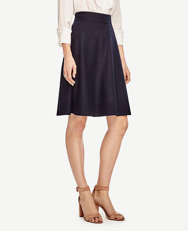Image of Petite Wool Blend Circle Skirt