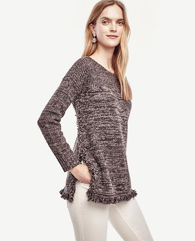 Image of Fringe Tunic Sweater