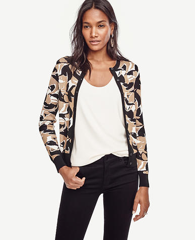 Image of Abstract Jacquard Ann Cardigan