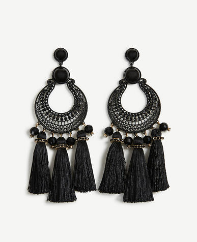 Image of Filigree Tassel Earrings