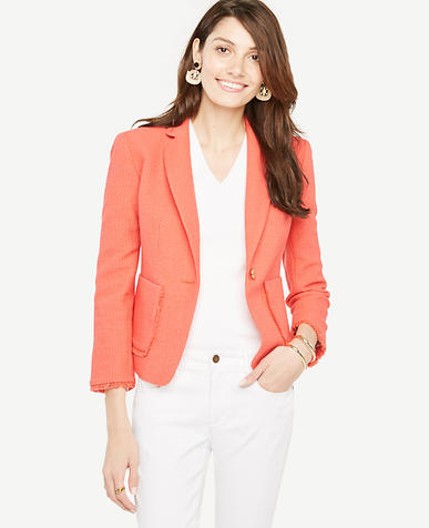Image of Textured Fringe Blazer