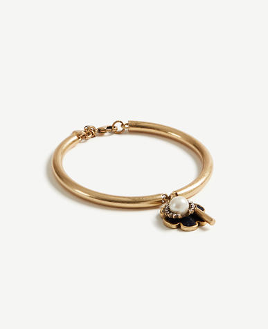 Image of Floral Stone Tassel Bangle