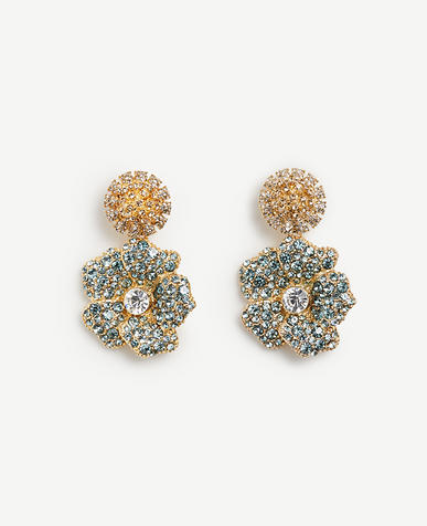 Image of Floral Crystal Earrings