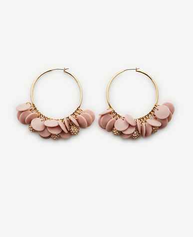 Image of Disc Charm Statement Hoops
