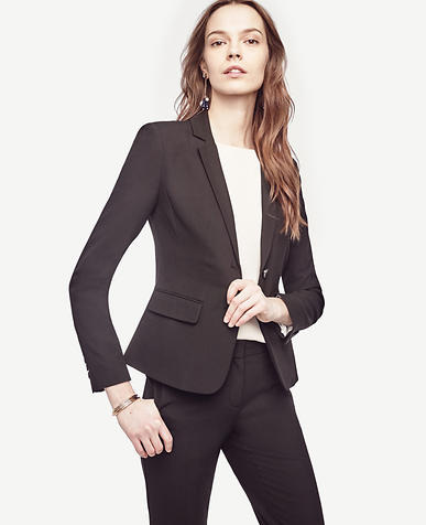 Petite Seasonless Stretch Two Button Jacket