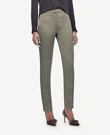 Image of Square Jacquard Ankle Pants
