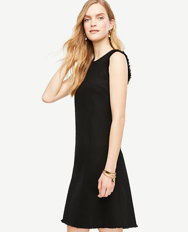 Image of Fringe Trim Shift Dress