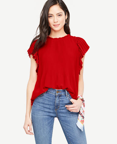 Image of Pleated Shoulder Blouse