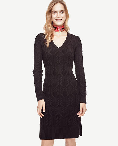 Image of Petite Cable Sweater Dress