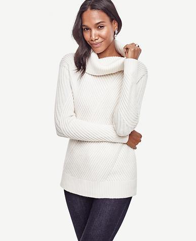 Image of Petite Aran Cowlneck Sweater