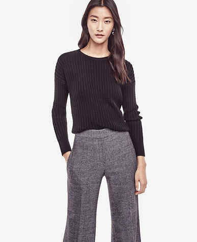 Image of Petite Stitch Ribbed Sweater