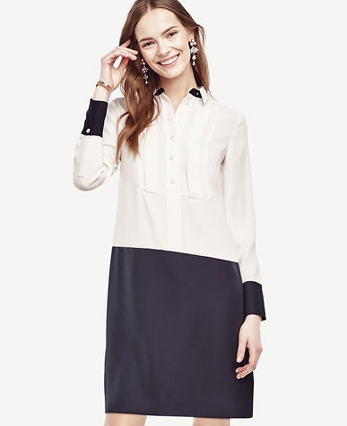 Image of Petite Colorblock Shirtdress