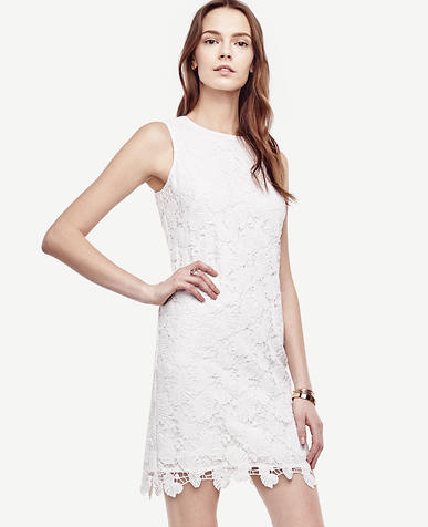 Image of Floral Lace Shift Dress