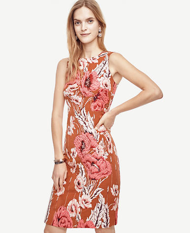 Image of Poppy Jacquard Sheath Dress