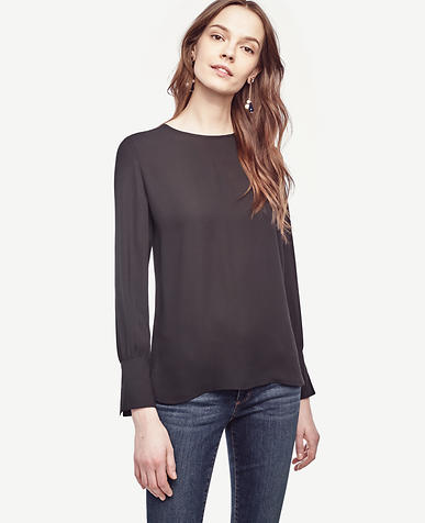 Image of Crew Neck Blouse