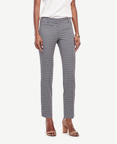 Image of Devin Geo Jacquard Cropped Pants