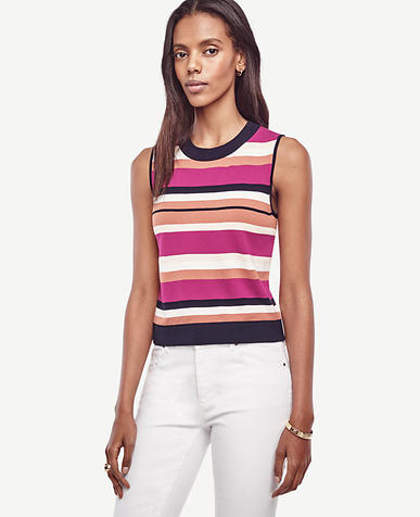 Image of Stripe Cropped Ann Shell