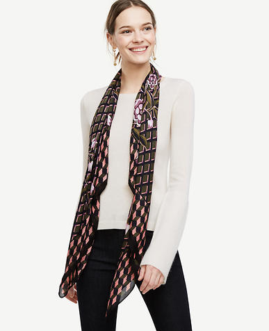 Image of Ornamental Rose Square Scarf