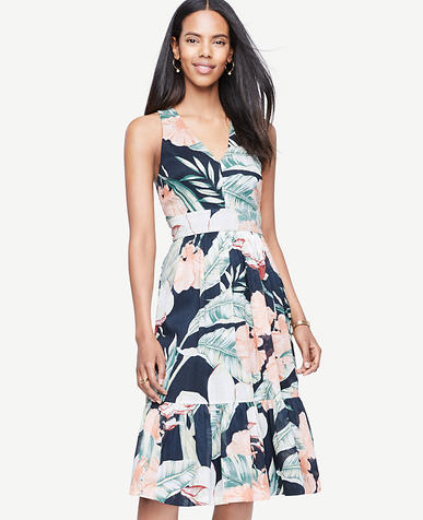 Image of Island Floral Cross Back Dress