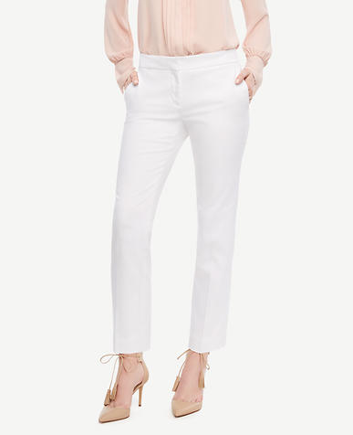 Image of The Ankle Pant in Cotton Sateen - Kate Fit
