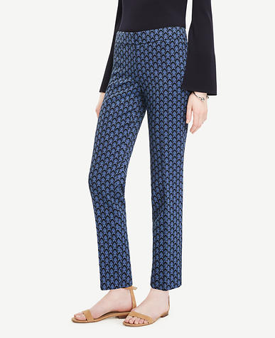 Image of The Ankle Pant in Petal Jacquard - Devin Fit