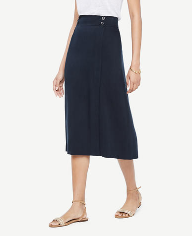 Image of A-Line Midi Skirt