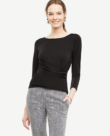 Image of Crossover Draped Top