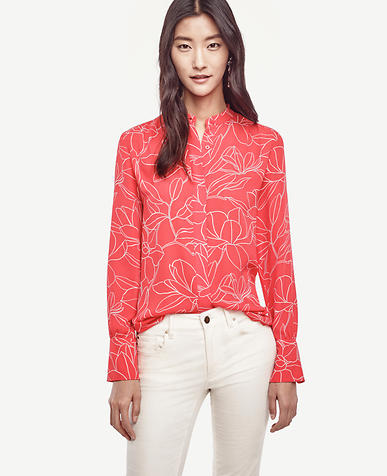 Image of Floral Shirred Blouse