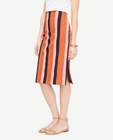 Image of Striped Pencil Skirt