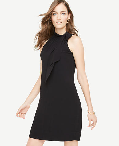 Image of Tie Neck Shift Dress