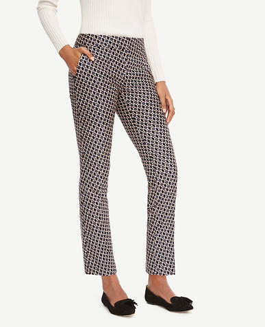 Image of The Ankle Pant in Daisy Jacquard - Devin Fit