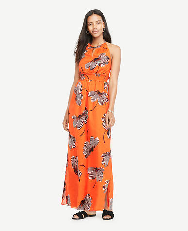 Image of Floral Halter Maxi Dress