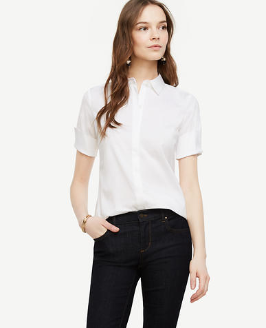 Image of Petite Short Sleeve Perfect Shirt