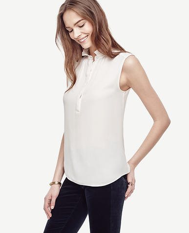 Image of Ruffle Collar Sleeveless Top
