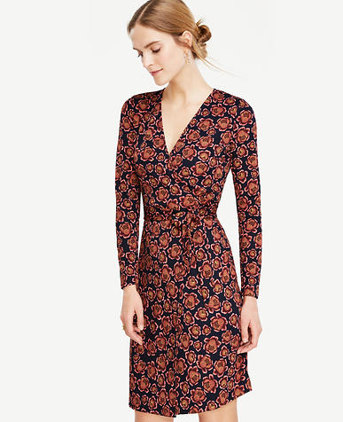 Image of Blooms Matte Jersey Wrap Dress