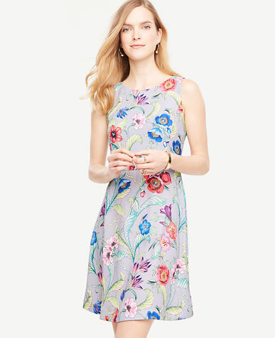 Image of Jungle Floral Flare Dress