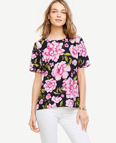 Image of Floral Silk Tee