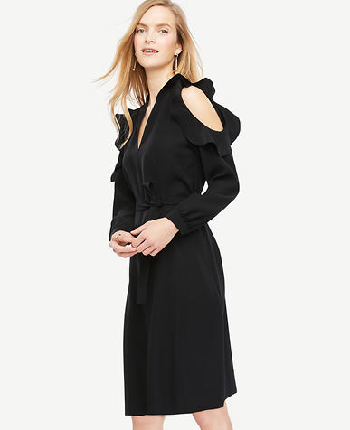 Image of Bare Shoulder Shirt Dress