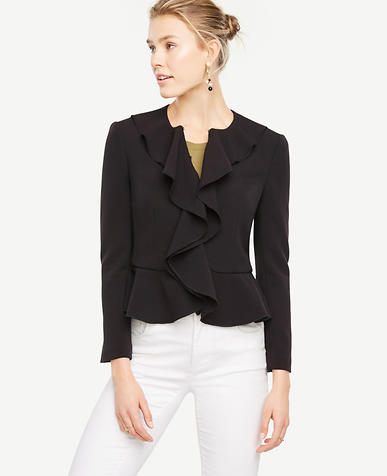Image of Draped Ruffle Jacket