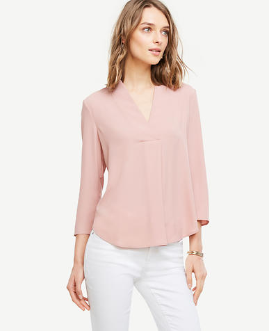 Image of Matte Jersey V-Neck Top