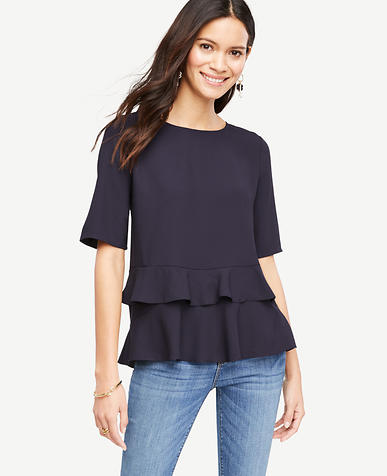 Image of Tiered Ruffle Hem Top