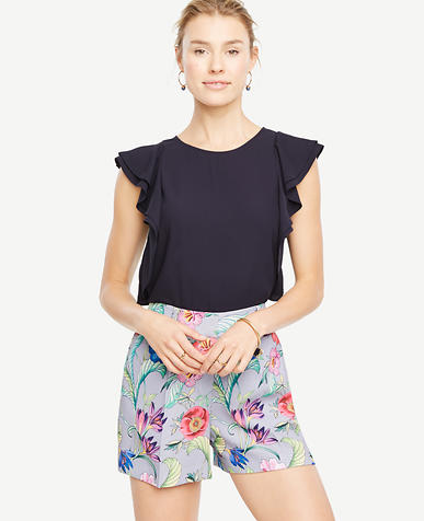 Image of Cascading Ruffle Sleeve Top
